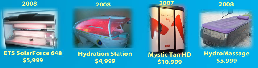 tanning salon and day spa equipment for sale